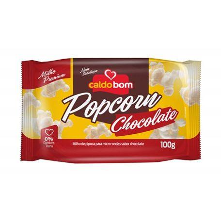 Pipoca de Microondas sabor Chocolate 100g - Caldo Bom